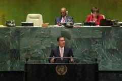Martín Vizcarra dijo en la ONU que confía en lograr adelanto de elecciones en Perú