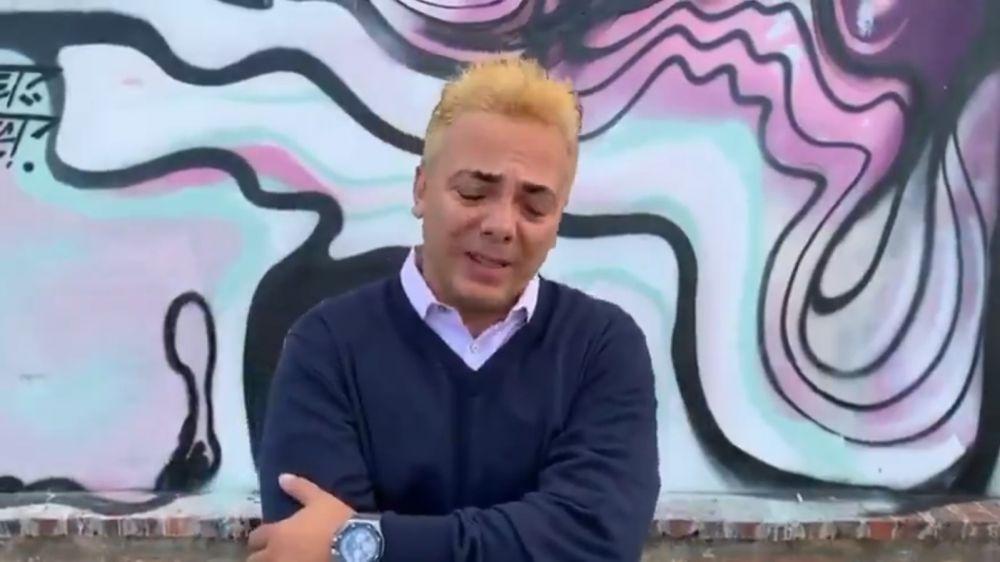 Cristian Castro lloró ante cámaras tras la muerte de José José