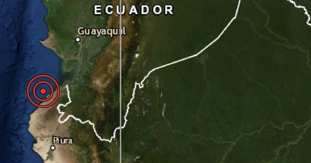 Sismo de magnitud 3.6 se registró hoy en Zorritos región Tumbes