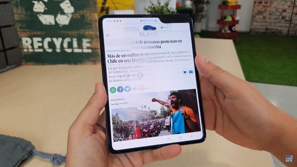 Descubren fallo del Galaxy Fold, el teléfono plegable de Samsung