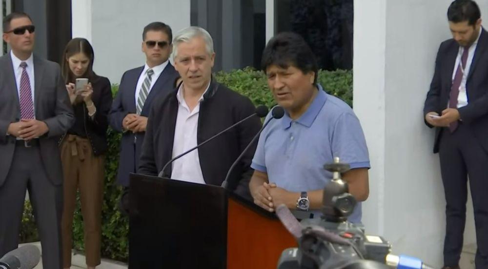 Evo Morales llegó a México