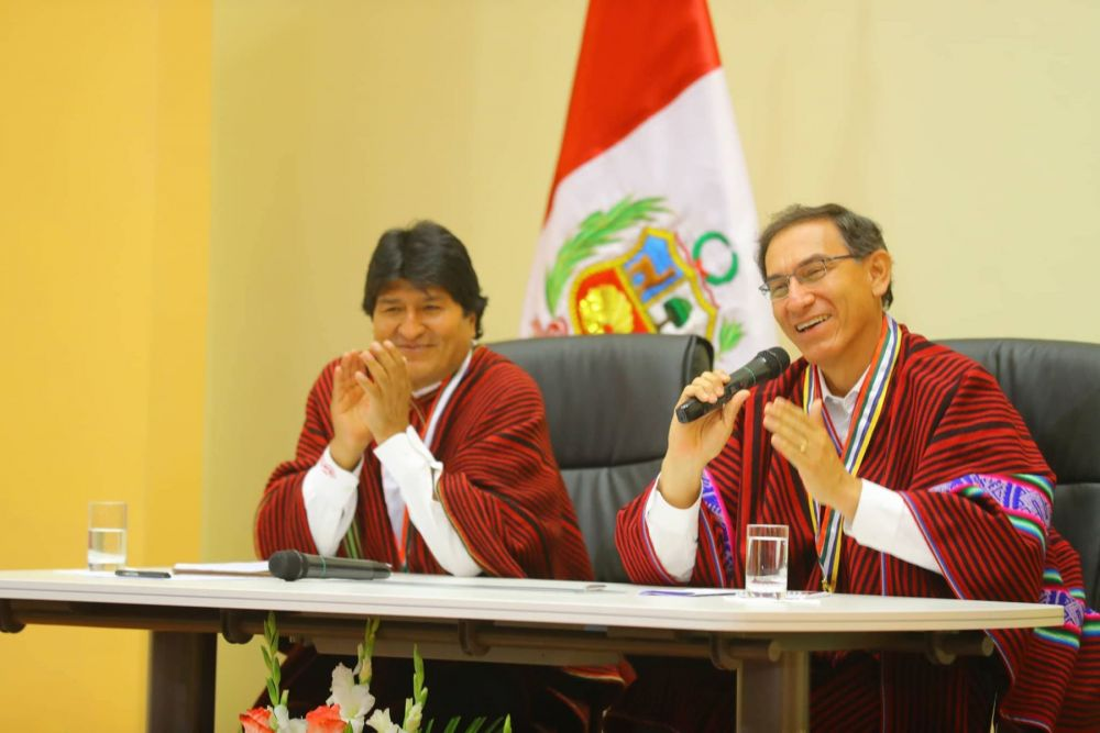 Evo Morales y Martín Vizcarra