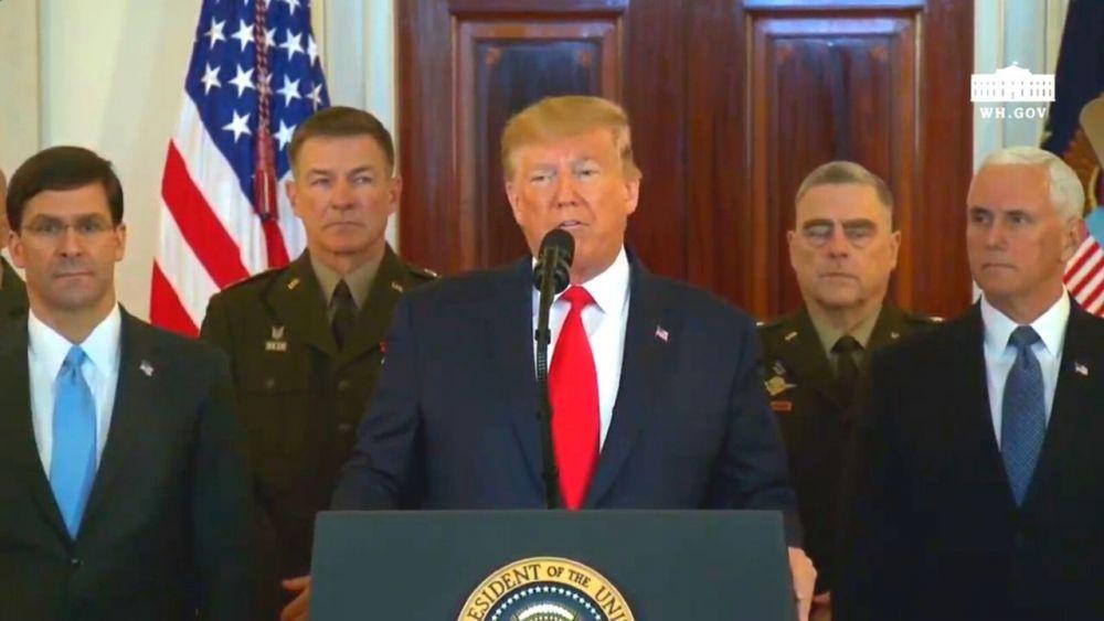 """Donald Trump: """"No hay muertos ni heridos tras ataque de Irán a base de Ain al Asad"""""""