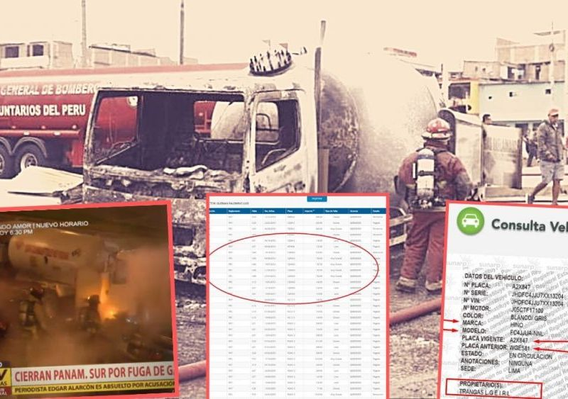 Chofer tenía 83 papeletas y camión tuvo fuga de gas el 2018 ¿quién fiscalizó?
