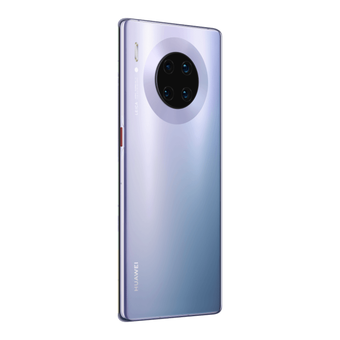 HUAWEI Mate 30 Pro Space Silver Rear 30 Right General