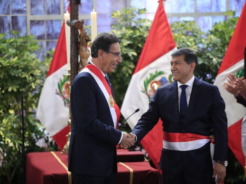 Martín Vizcarra frena propuesta de ministro para retirar resguardo a congresistas