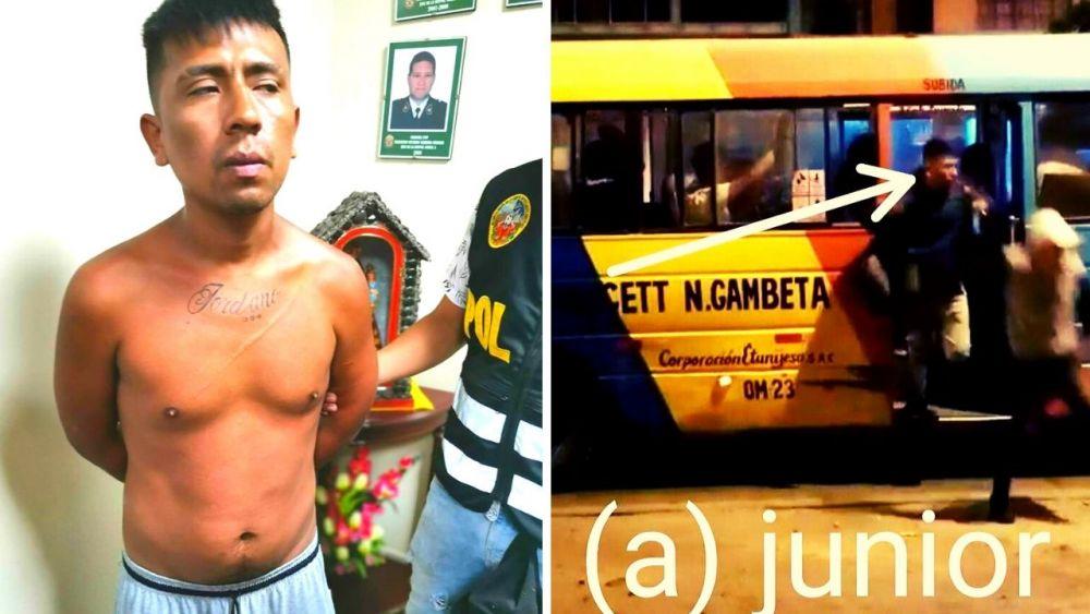 Capturan a delincuente que asaltó cúster en San Martín de Porres y era prontuariado