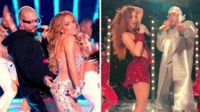 J Balvin y Bad Bunny en el Super Bowl con Shakira y Jennifer López