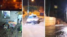 Huaico ingresa a la ciudad de Tacna y usuarios publican impactantes videos