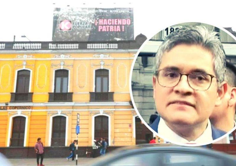 Local de Fuerza Popular fue allanado por fiscal José Domingo Pérez