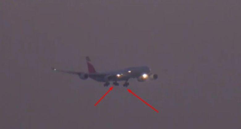 Avión de Air Canada sin una rueda y un motor menos intenta aterrizar en Madrid