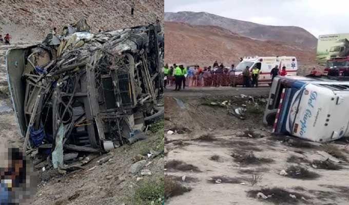 Choque entre dos buses deja 11 muertos y 40 heridos en La Joya, Arequipa