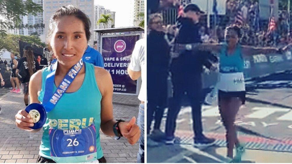 Orgullo peruano: Aydeé Loayza ganó la Maratón de Miami 2020