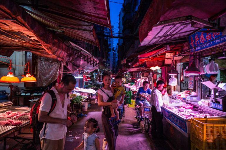 Mercado en Wuhan