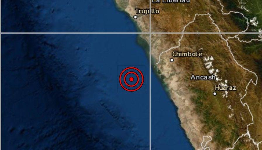 Sismo de magnitud 4.0 se registró hoy en la ciudad de Chimbote