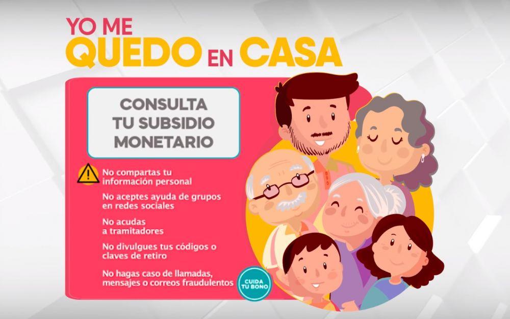 Modalidades de pago de Bono Yomequedoencasa.pe