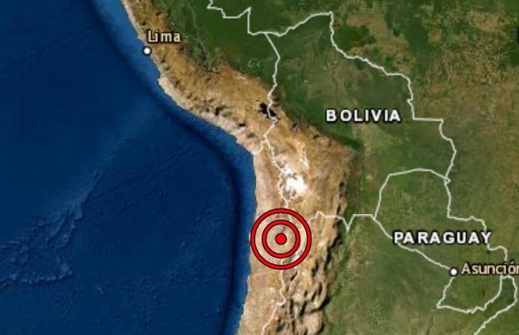 Sismo de magnitud 6.8 se registró hoy en Tacna