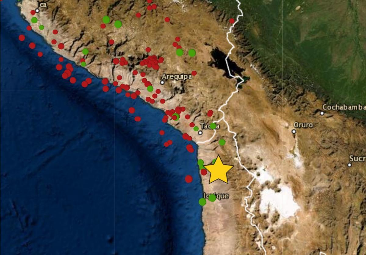 Sismo de magnitud 4.4 se sintió en Tacna y epicentro se ubicó en Chile