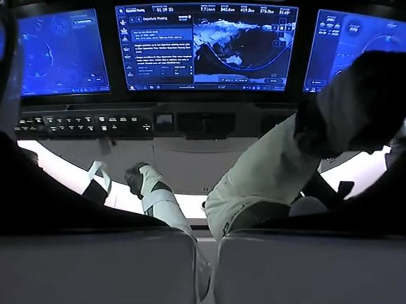 NASA: Cápsula de SpaceX abandona la Estación Espacial Internacional rumbo a la Tierra