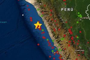 Fuerte sismo de magnitud 4.5 se registró en Chimbote y se sintió hasta Trujillo
