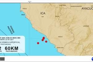 IGP pide calma y asegura que 5 sismos en Ica son eventos independientes