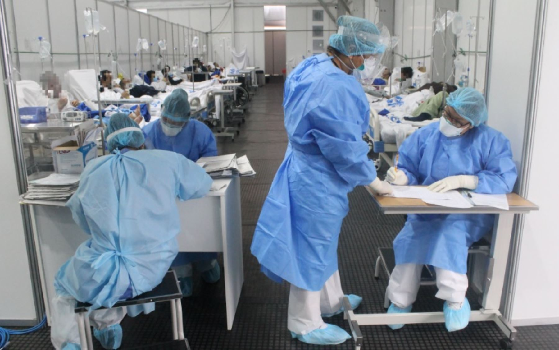 Hospital peruano con casos de COVID-19