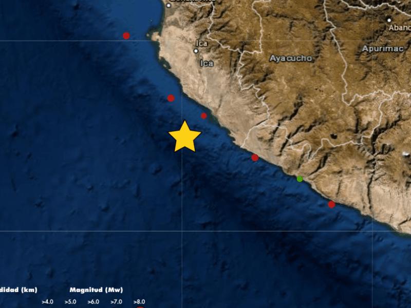 Cuatro sismos se registraron en Ica