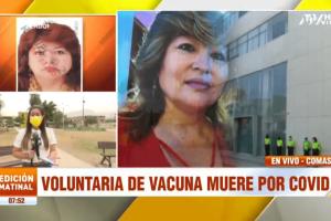 Mujer que falleció por Covid-19 recibió placebo en ensayos de vacuna de Sinopharm
