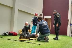 Trabajadores de la ODPE Urubamba en Cusco participaron de simulacro de sismo