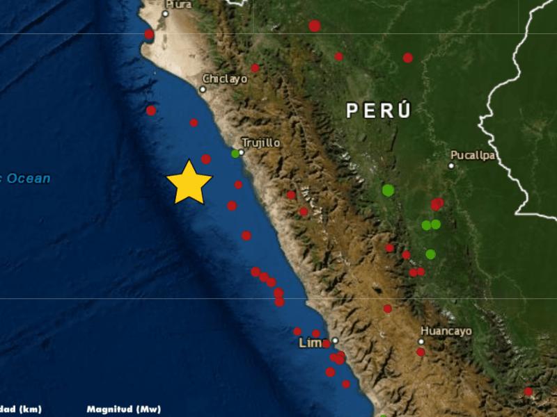 Temblor hoy en Trujillo