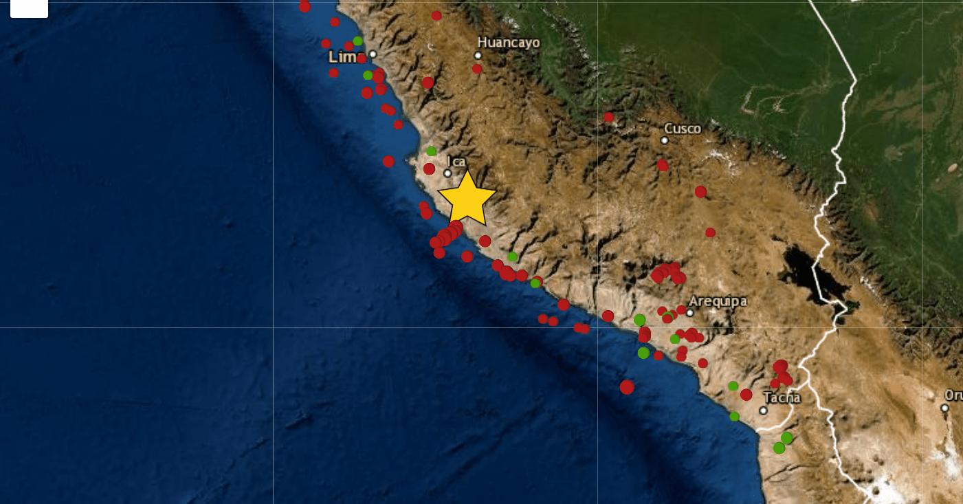 Temblor en Ica: Sismo de magnitud 5.6 se registró hoy 12 de mayo y se sintió en Lima