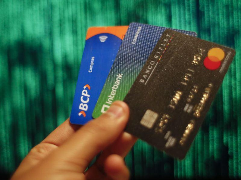 Tarjetas de crédito o débito