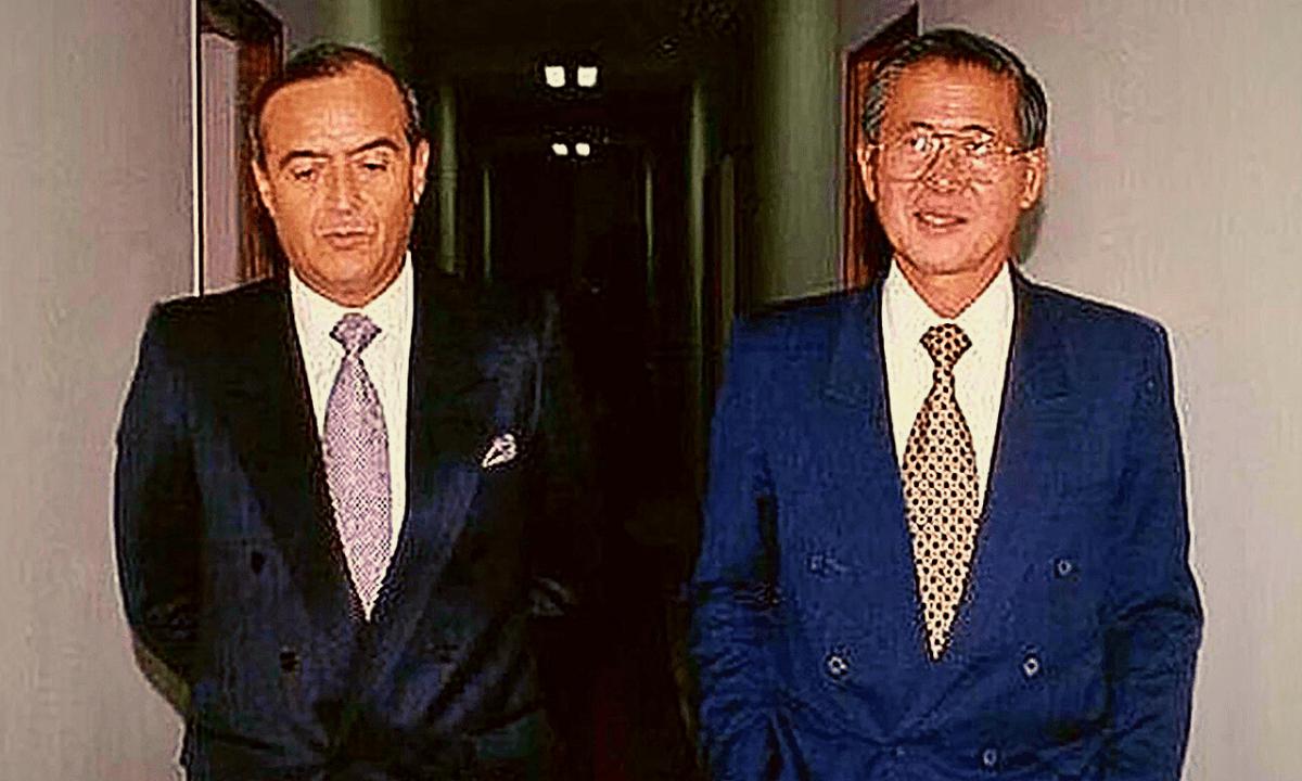 Alberto Fujimori y Vladimiro Montesinos