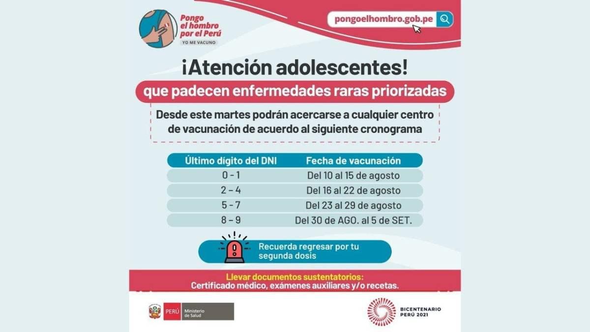 Vacunación de adolescentes