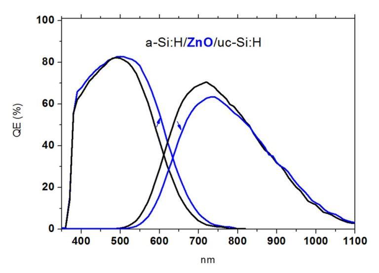 ZnO中間層 量子效率