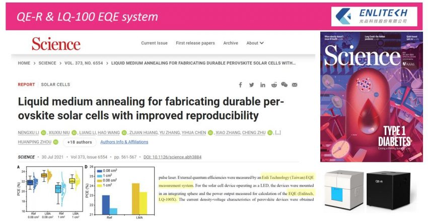 2021 Liquid medium annealing for fabricating durable perovskite solar cells with improved reproducibility
