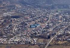 Vista de Lonquimay desde el cerro el Calvario