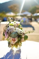 floral arrangement at theological seminary wedding