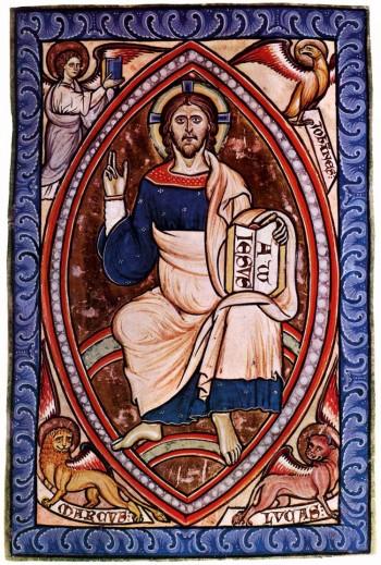 Christ en gloire (enluminure du XIIe Siècle)