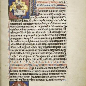 Martyrologe de Saint Germain des Prés. Folio 43