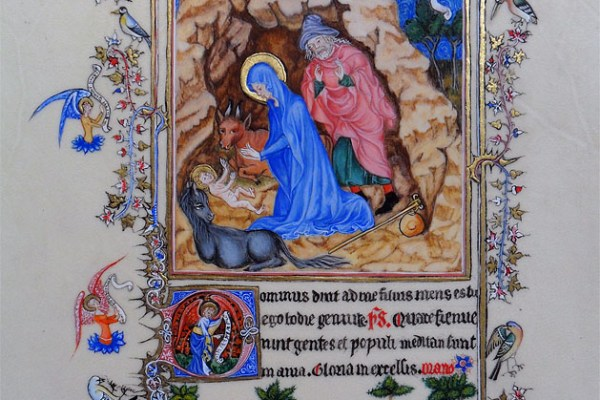 Adoration de l'enfant (enluminure)