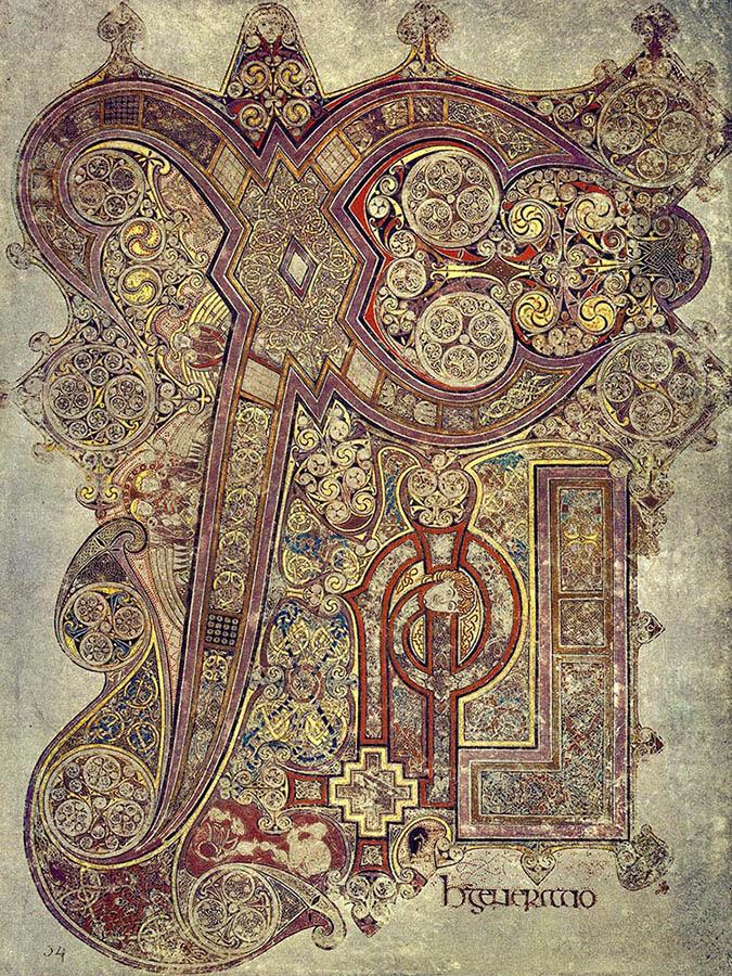 """Livre de Kells - """"Chi-Rho"""""""