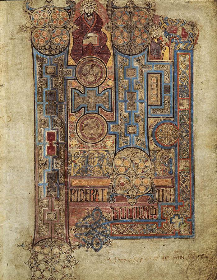 Incipit de l'évangile de Saint-Jean. Folio n°292 du livre de Kells