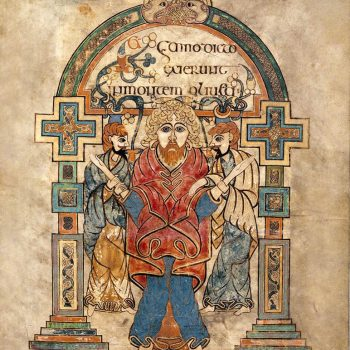 Arrestation du Christ (folio 114r du livre de Kells).