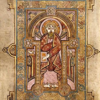 Portrait de Saint-Matthieu (folio 28v du livre de Kells).