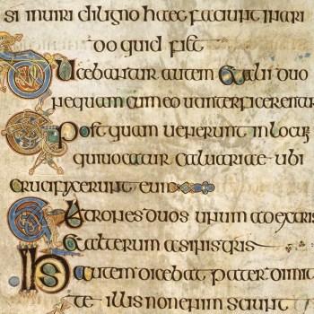 Livre de Kells - détail du folio 282v