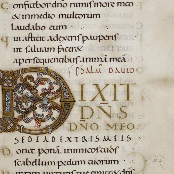 Initiale D - Folio 144r - Psautier d'Oswald