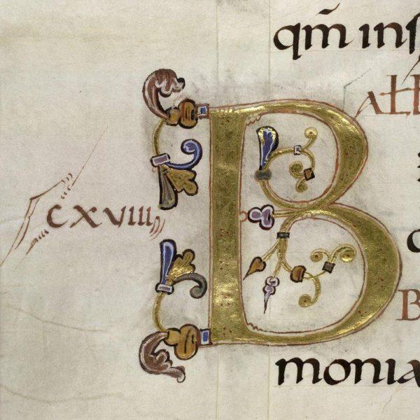 Initiale B - Folio 151v - Psautier d'Oswald
