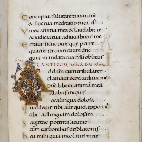 Initiale A - Folio 164r - Psautier d'Oswald