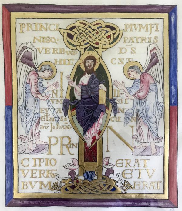 Christ en majesté entouré d'anges (enluminure)